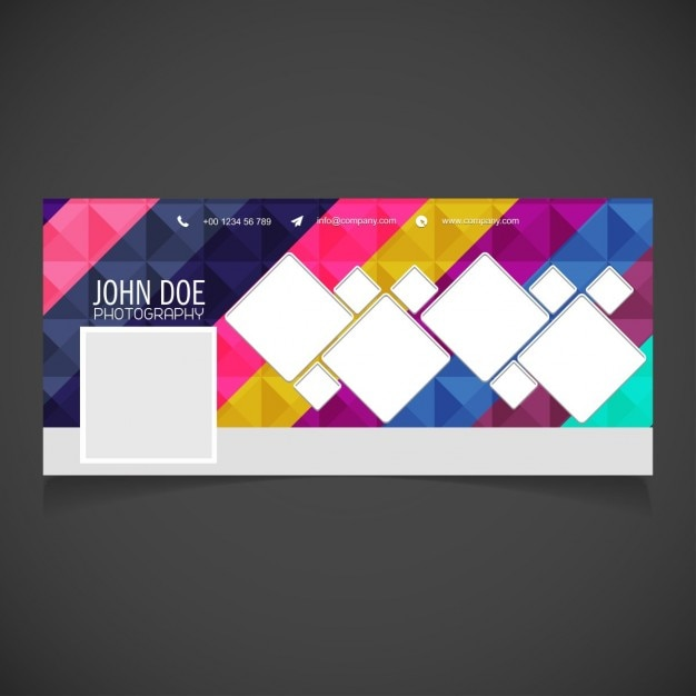Cover with a geometric background Free Vector