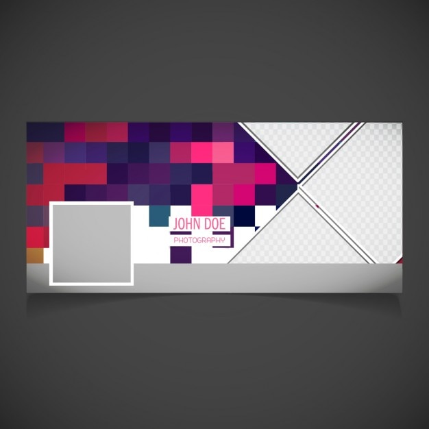 Cover with a nice pixel background Free Vector