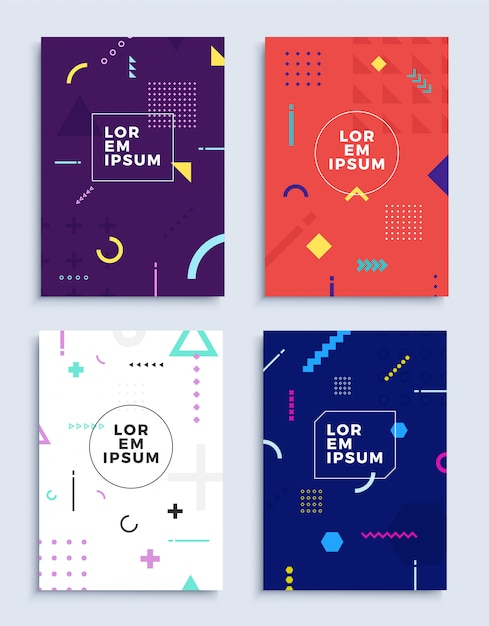Covers modern abstract design templates set. Premium Vector