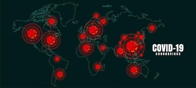 Covid-19 coronavirus global outbreak pandemic disease background Free Vector