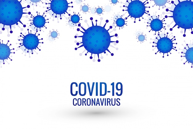 Covid-19コロナウイルス発生の背景 無料ベクター