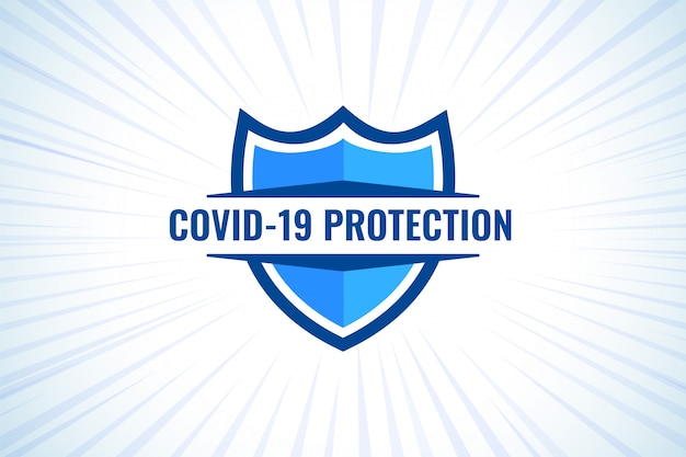 Covid-19 coronavirus protection shield for medical purpose Free Vector