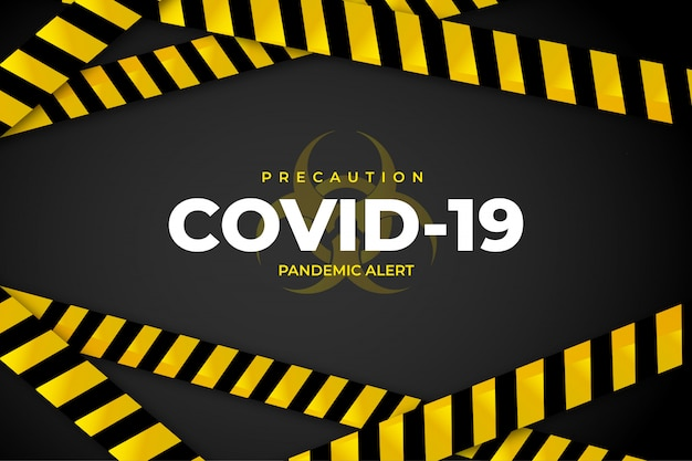 Covid-19 меры предосторожности Бесплатные векторы