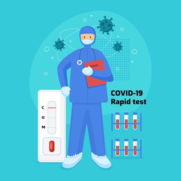 Covid-19迅速テスト 無料ベクター