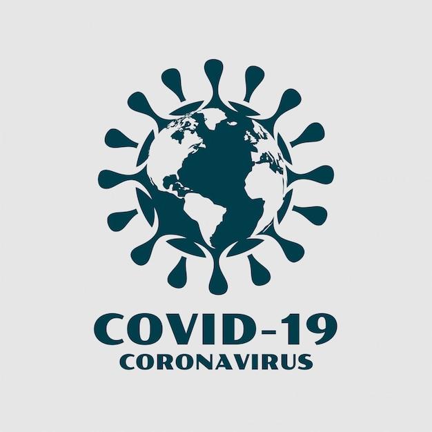 Коронавирус covid-19 с фоновой картой мира Бесплатные векторы