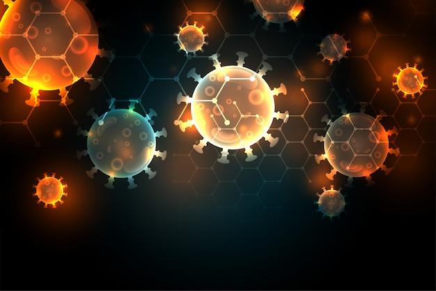 Covid-19 коронавирусная пандемия инфекции дизайн фона Бесплатные векторы