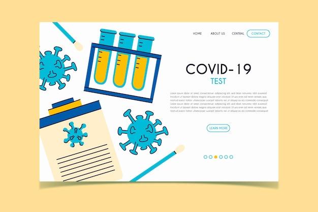 Тестовая посадочная страница covid-19 Бесплатные векторы