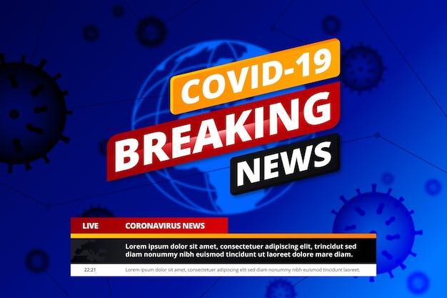 Covid19 ultime notizie di sfondo Vettore gratuito