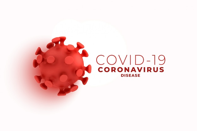 Covid19 coronavirus background with 3d cell design Free Vector