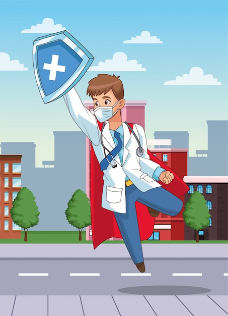 Супер доктор открытка адаптировался мобильному