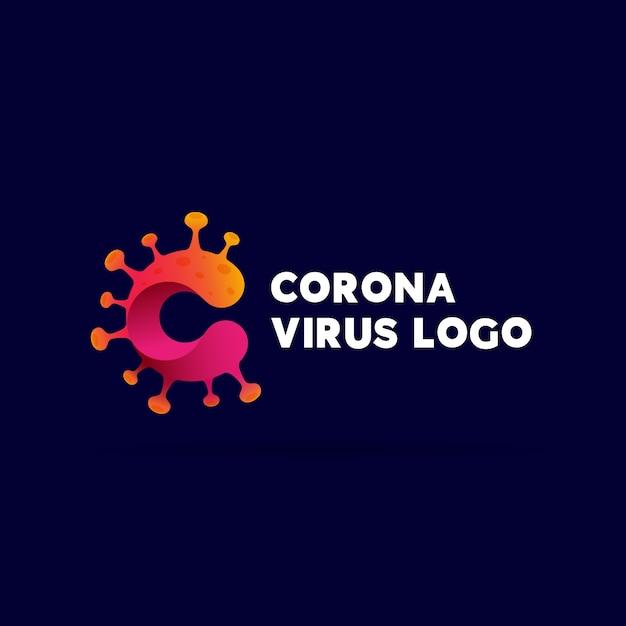 Covid19 дизайн логотипа Бесплатные векторы