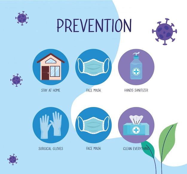 Covid19 пандемическая инфографика с методами профилактики Бесплатные векторы