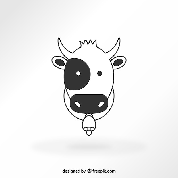 Cow icon Free Vector