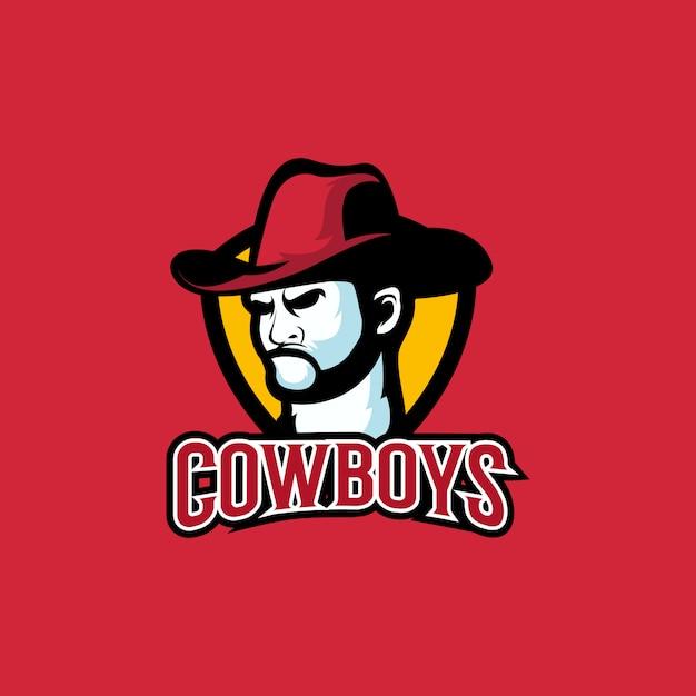 Cowboy logo Premium Vector
