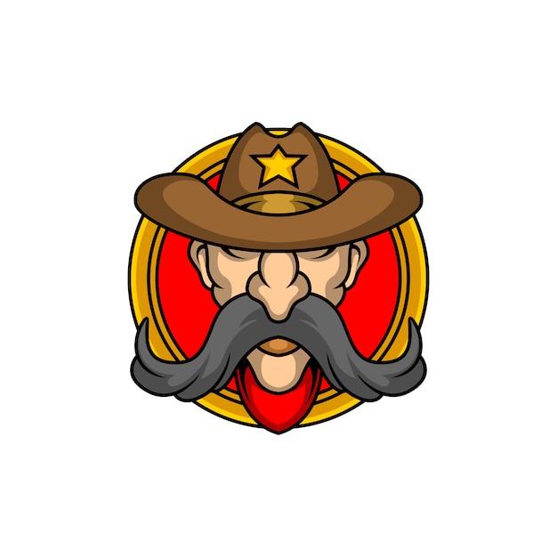 The cowboy logo Premium Vector
