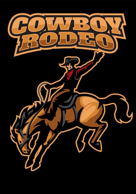 Cowboy playing rodeo Premium Vector