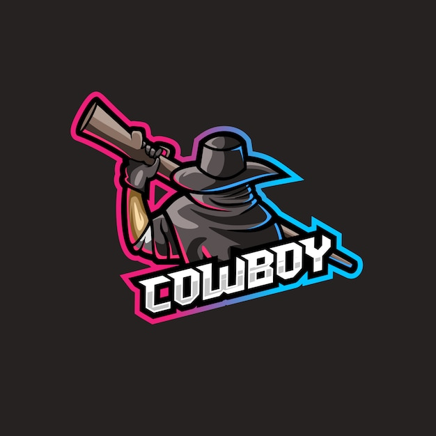 Cowboy with weapon illustration Premium Vector