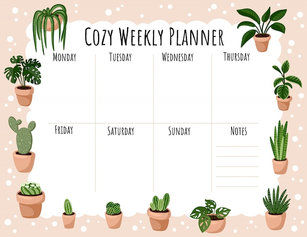 how to display succulents 30 cute examples.htm cozy weekly planner and to do list with hygge potted succulent  cozy weekly planner and to do list with