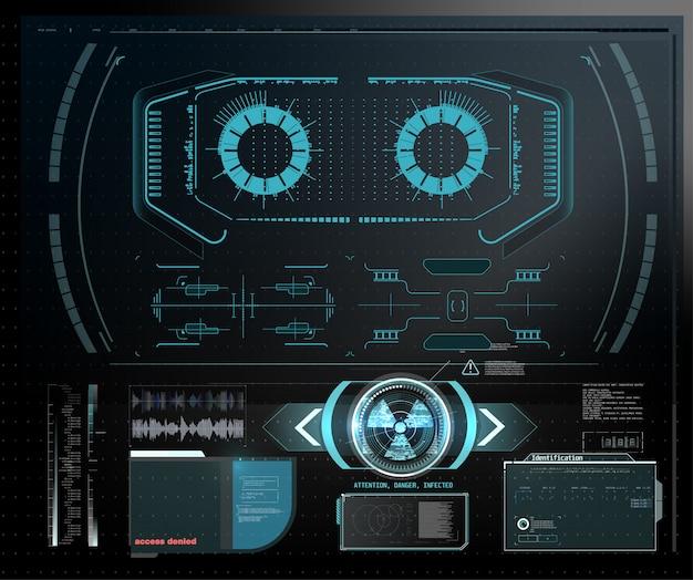量子コンピューター、大規模なデータ処理、データベースの概念。cpu等尺性バナー。中央コンピュータープロセッサcpuコンセプト。デジタルチップ青色の背景にライト付きの未来的なマイクロチッププロセッサ。 Premiumベクター
