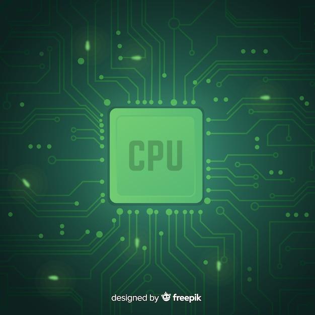Современный cpu-фон с градиентным стилем Бесплатные векторы
