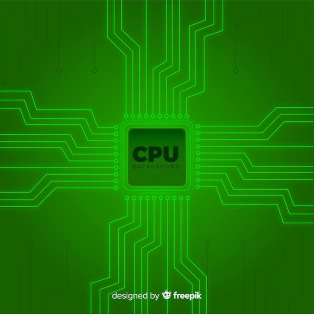 現代緑のcpuの背景 無料ベクター