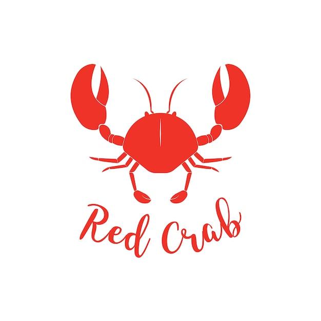 Краб силуэт. шаблон логотипа логотипа магазина морепродуктов для упаковки продовольственных товаров или дизайна ресторана Premium векторы