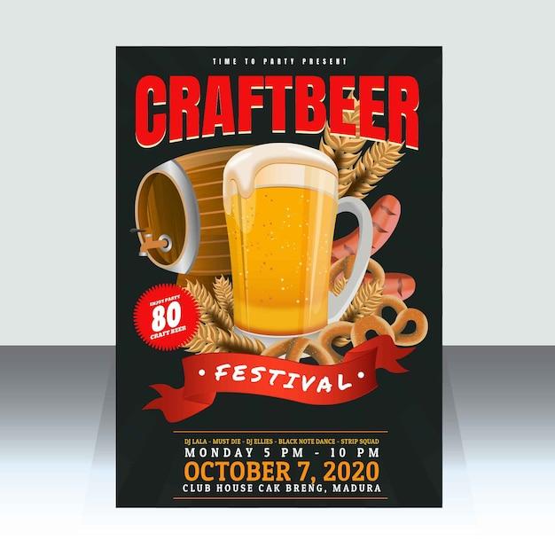 Craft Beer Festival 2020.Craft Beer Festival Poster Template Vector Premium Download