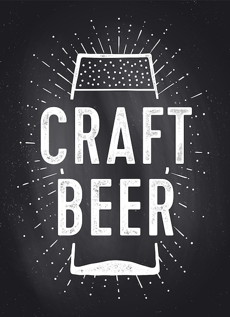 Craft beer. poster or Premium Vector