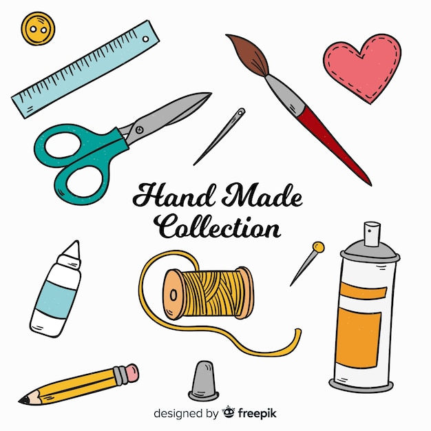 Craft element collection Free Vector