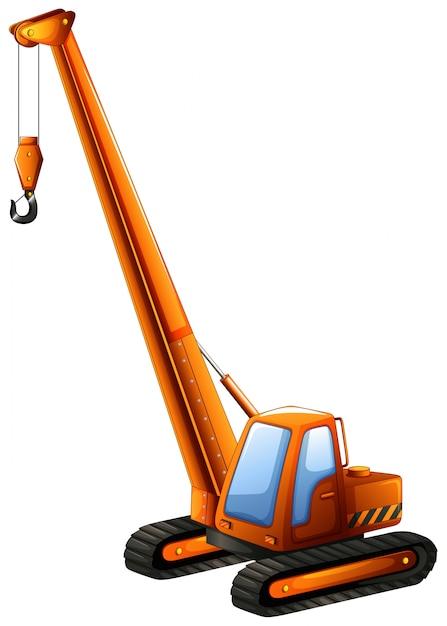 Crane truck Free Vector