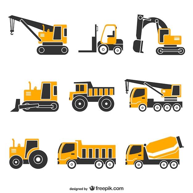 Cranes set Free Vector