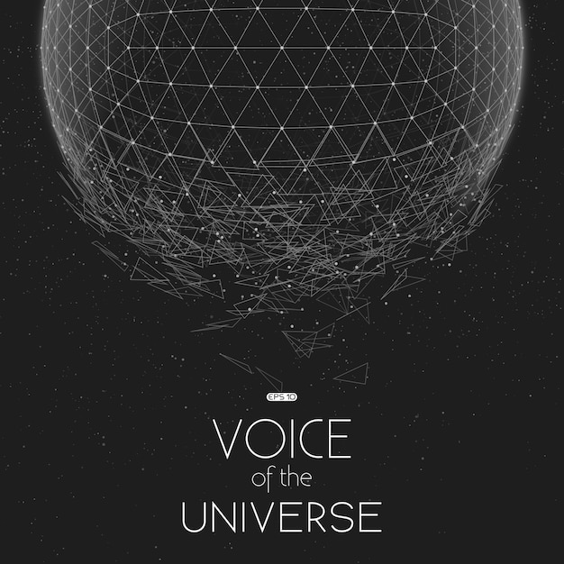 Грохот серой космической сферы Бесплатные векторы