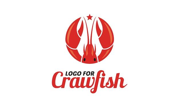Crawfish/prawn/shrimp/lobster seafood logo Premium Vector