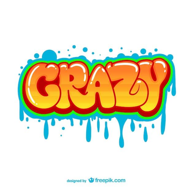 crazy graffiti vector - photo #1