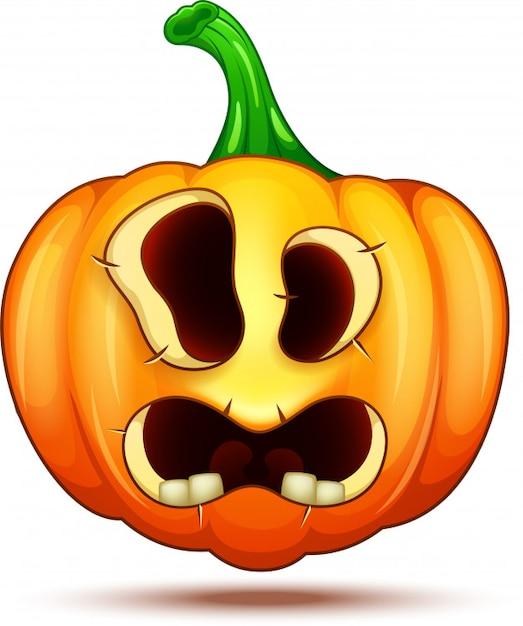 Crazy pumpkin characters Premium Vector