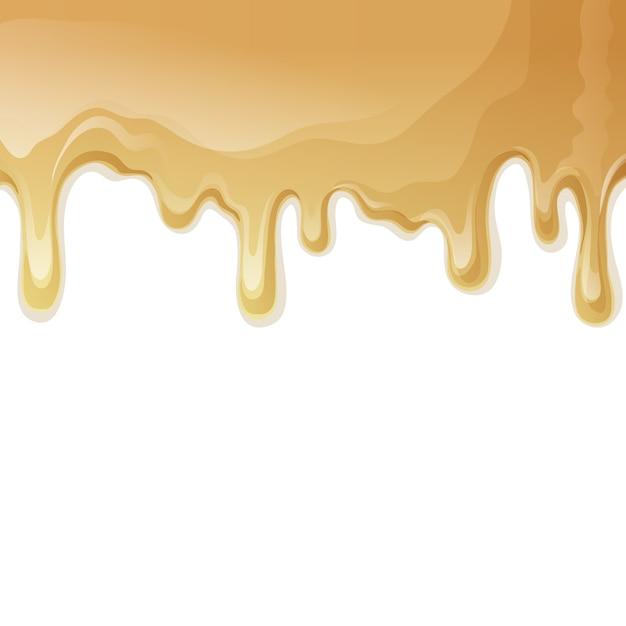 Melting Ice Cream Simple Wallpaper Designs: Cream Background Design Vector