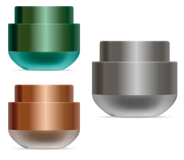 Cream jar. cosmetic cream container beauty product Premium Vector