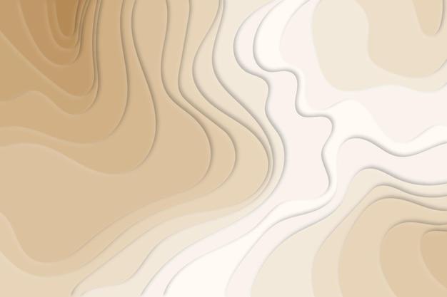 Cream topographic map background Free Vector