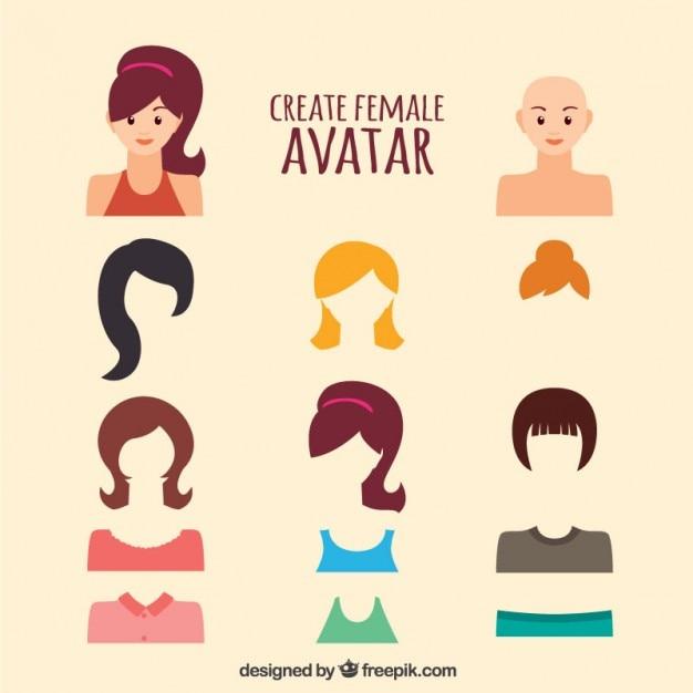 Create Female Avatar Vector  Free Downlo -> Banheiro Feminino Vetor Free