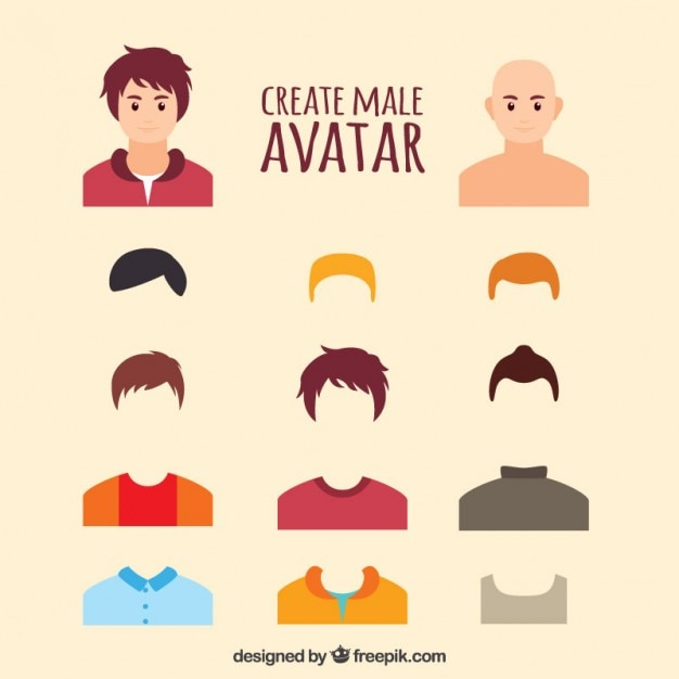 create male avatar vector free download