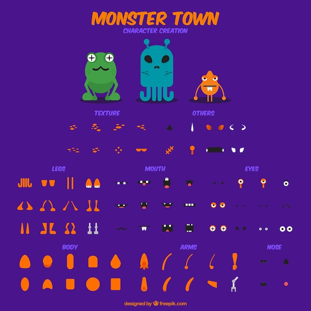 create your monster Free Vector