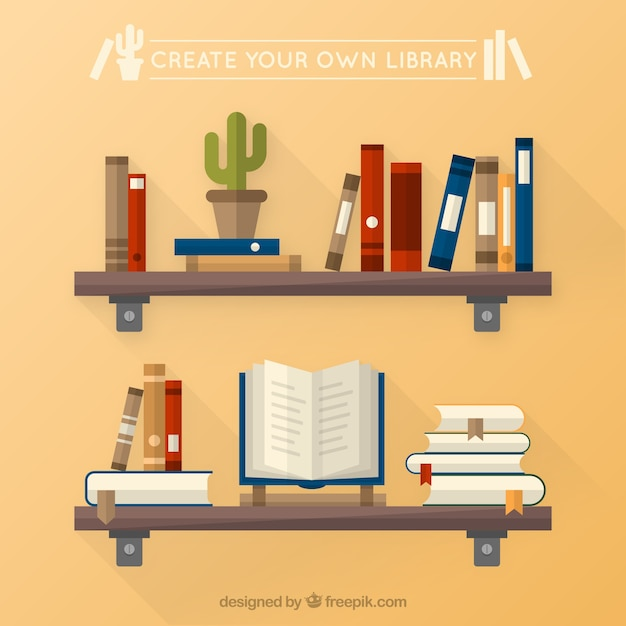 Create your own library vector free download for Create your own building