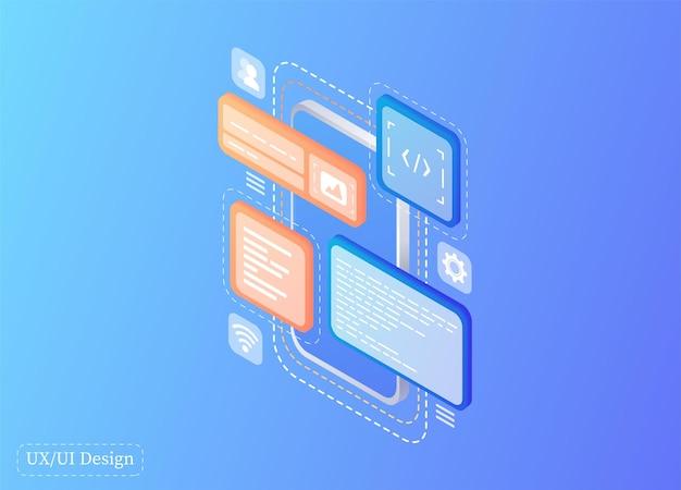 Creates a custom design for a mobile application ui ux design development of applications design pr