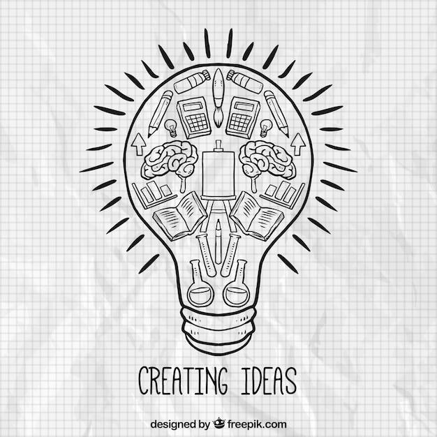 Creating ideas concept Free Vector