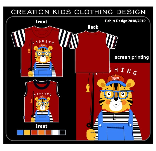 Creation kids clothing Premium Vector