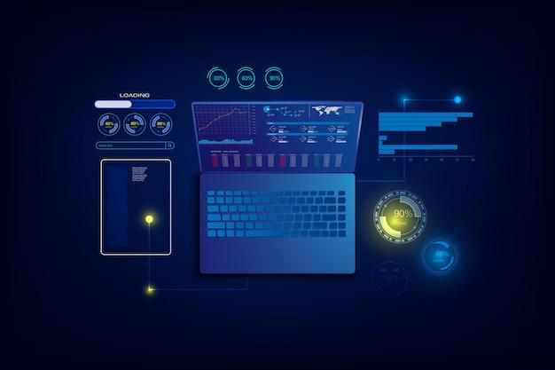 Creation responsive internet website for multiple platform Premium Vector