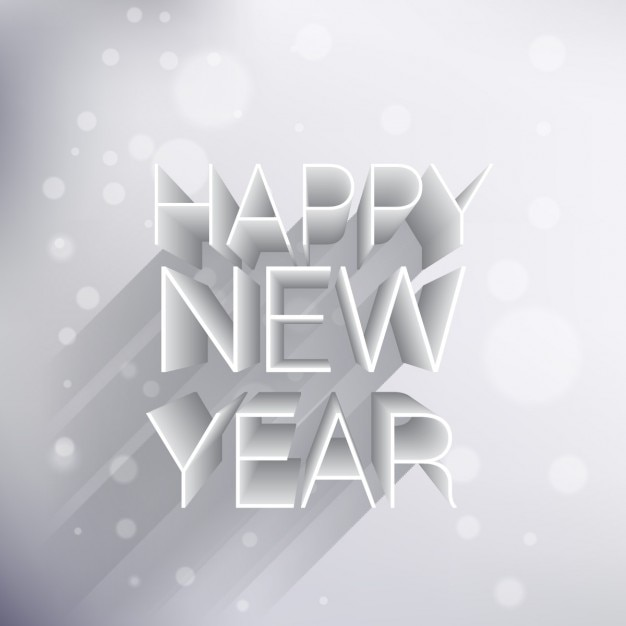 creative 3d happy new year background free vector