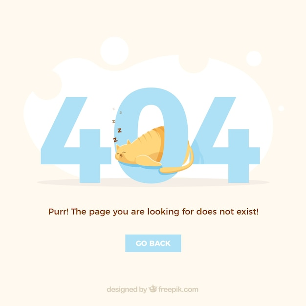 Creative 404 error background Free Vector