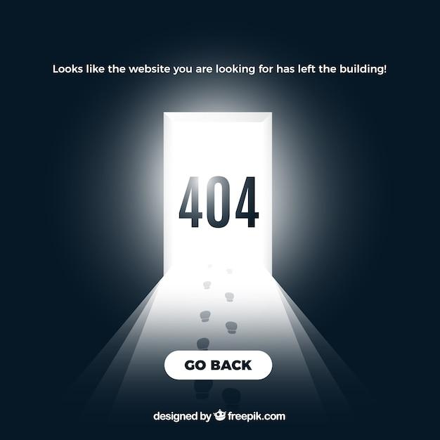 Creative 404 error background Free Vector