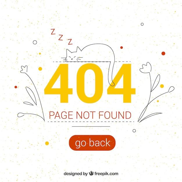 Creative 404 error design Free Vector